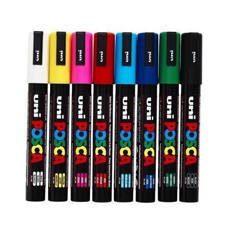 Dekorační popisovač Posca PC-5M, bílá, 1,8-2,5 mm, UNI