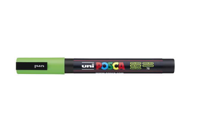 Akrylový popisovač Posca PC-3M, zelená jablko, 0,9-1,3 mm, UNI