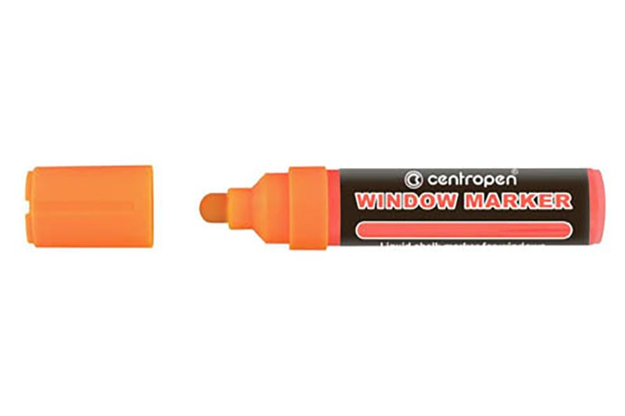 Značkovač Centropen 9121 window - oranžová fluo
