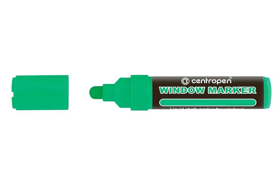 Značkovač Centropen 9121 window - zelená fluo