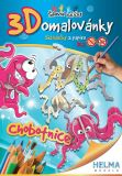 3D omalovánky Chobotnice A4