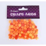 Bambulky akrylové 10mm 3 oranžové / 171756