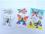Omalovánky A5 Barevní motýlci BO417