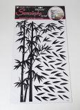 Samolepky pokoj. bambus černý s lístky 50x32 cm /10150/