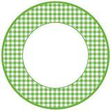 Papírový talíř - Zelená kostka, malý 8 ks
