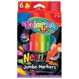 Colorino fixy Jumbo TRIO Neon 6 barev