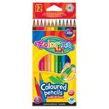Colorino pastelky hexagonalné 12 ks