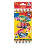Colorino pastelky dvoubarevné Trio 24 barev