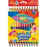 Colorino pastelky Jumbo dvouksné TRIO 24 ks
