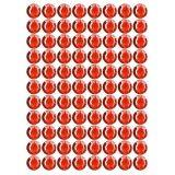 Samolepící kamínky - červené 88 ks