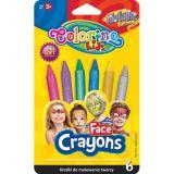 Colorino tužky na obličej - metalické 6 barev