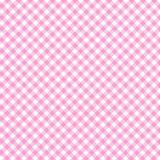 Papírový ubrousek Diagonal Pink Check