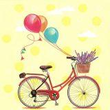 Papírový ubrousek Bicycle with Ballons