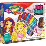 Colorino Křídy na vlasy 10 barev metalické