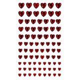 Samolepící srdce 84 ks