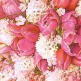 Papírový ubrousek Cute Pink Bouquet