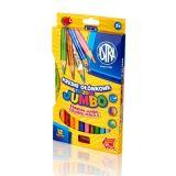 ASTRA Jumbo pastelky 12 ks Rainbow