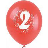 Balónky nafukovací - s číslem 2
