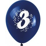 Balónky nafukovací - s číslem 3