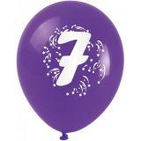 Balónky nafukovací - s číslem 7