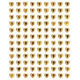 Samolepící srdce 108 ks