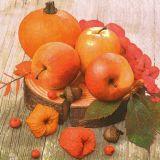 Papírový ubrousek Autumn Apples and Pumpkin Composition