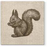 Vánoční papírový ubrousek We care Squirrel