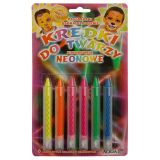 Tužky na obličej - neonové