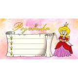 Pozvánka na oslavu - Princezna