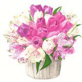 Papírový ubrousek Pastel Bouquet