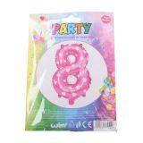 Nafukovací balónek ve tvaru čísla 8 - růžový