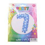 Nafukovací balónek ve tvaru čísla 7 - modrý