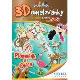 3D omalovánky Plameňák a opice