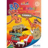 3D omalovánky Savana