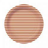 Papírový talíř eco party - Stripes oranžový