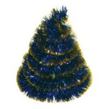 Vánoční řetěz modro-zlatý