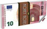Blok 10 euro, čtverečkovaný, 127x65 mm, 70 listů, PANTA PLAST