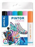 Set dekorativních popisovačů Pintor M, 6 barev fun, 1,4 mm, PILOT