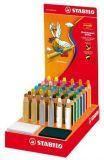 Barevné pastelky Woody, mix barev, 3v1 – pastelka, vodovka, voskovka, 48ks/displej, STABILO