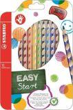 Barevná pastelka Easycolours, HB, trojhranná, pro praváky, 12ks/ bal. , STABILO