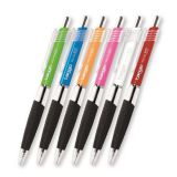 Kuličková pera Tango, mix barev, 0,35 mm, 12ks, stiskací mechanismus, modrý inkoust, FLEXOFFICE ,balení 12 ks