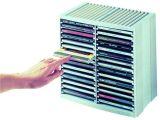 CD stojan, 30+18ks CD v krabičce, pull out systém, šedý, ESSELTE