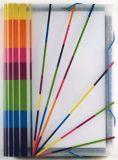 Desky s přihrádkami Propystick, transparentní modrá, 12 přihrádek, PP, VIQUEL