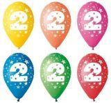 Balónek, s číslem 2, 26 cm ,balení 5 ks