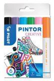Set dekorativních popisovačů Pintor F, 6 barev fun, 1 mm, PILOT