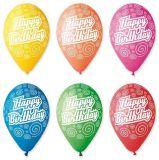 Balónek, Happy Birthday, 30 cm ,balení 10 ks