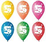 Balónek, s číslem 5, 26 cm ,balení 5 ks