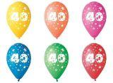 Balónek, s číslem 40, 26 cm ,balení 5 ks