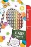 Barevná pastelka Easycolours, HB, trojhranná, pro leváky, 12ks/bal., STABILO
