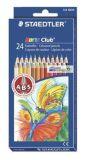 Barevné pastelky Noris Club, 24 barev, sada, šestihranné, STAEDTLER